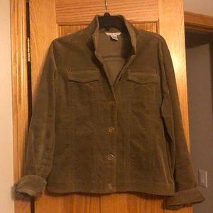 Cabi XL Women's Jacket Corduroy Olive Color